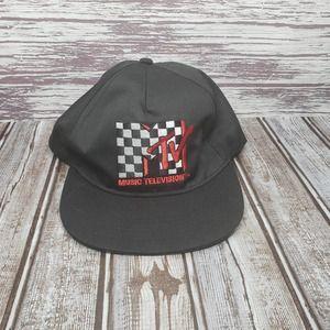 MTV Adjustable Snapback Hat  Black